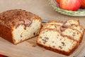 Sliced Apple Nut Bread