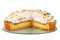 Sliced beaten egg whites dessert isolated on white Stock Image