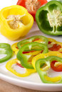 Sliced Bell Pepper Stock Photo