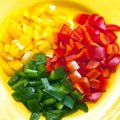 Sliced bell pepper Stock Image