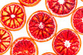 Sliced blood orange Royalty Free Stock Images
