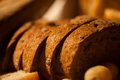 Sliced bread on basket closeup Royalty Free Stock Photo