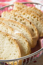 Sliced bread in a basket photo Royalty Free Stock Photo