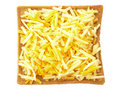 Sliced bread with grated cheese Royalty Free Stock Photos