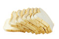 Sliced bread white on white Stock Image