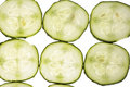 Sliced cucumber with rise Royalty Free Stock Photography