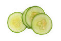 Sliced cucumber white background Stock Image