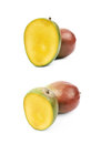 Sliced and cut mango fruit isolated Royalty Free Stock Photo