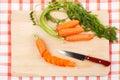 Sliced fresh carrots Royalty Free Stock Photo