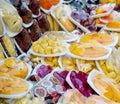 Sliced fresh fruits Royalty Free Stock Photo