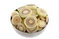 Sliced Fresh Lemon grass stalk Stock Images