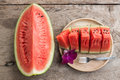 Sliced Fresh water melons Royalty Free Stock Photo