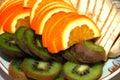 Sliced fruits Royalty Free Stock Image