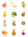 Sliced fruits with unique shape Stock Photos