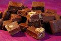 Sliced Fudge Royalty Free Stock Photography