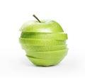 Sliced green apple Royalty Free Stock Photo