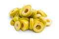 Sliced green olives Royalty Free Stock Photo