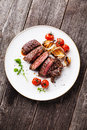 Sliced grilled Beef steak Ribeye Royalty Free Stock Photo
