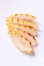 Sliced grilled chicken breast fillet slices of Stock Image