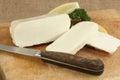 Sliced halloumi cheese Royalty Free Stock Photo