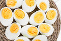 Sliced hard boiled eggs Royalty Free Stock Photo