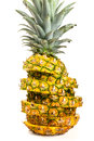 Sliced healthy fresh pineapple Royalty Free Stock Photo
