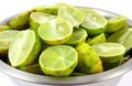 Sliced key limes Royalty Free Stock Photography