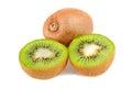Sliced kiwi Royalty Free Stock Images