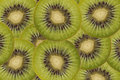 Sliced kiwi a background of fruit Royalty Free Stock Photos