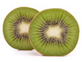 Sliced kiwi fruit half isolated on white background cutout Royalty Free Stock Image