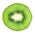 Sliced kiwi fruit macro Royalty Free Stock Photo