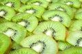 Sliced kiwi fruits fruit background Royalty Free Stock Images