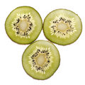 Sliced Kiwi isolated on white Royalty Free Stock Photo