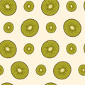 Sliced kiwifruit seamless background vector eps Royalty Free Stock Images