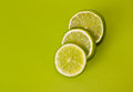 Sliced lime Stock Photos