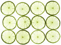 Sliced Limes Stock Photography