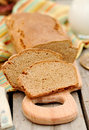 Sliced loaf of Swedish non-yeasted rye bread Royalty Free Stock Photo