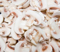 Sliced Mushrooms Royalty Free Stock Images
