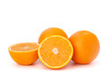 Sliced orange fruit segments isolated on white background the Stock Photography