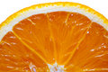 Sliced orange isolated on white Stock Photos