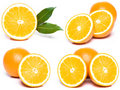 Sliced orange set Royalty Free Stock Photos