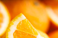 Sliced orange soft focus food background Stock Images