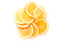 Sliced orange on a white background isolated Royalty Free Stock Photo