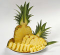 Sliced pineapple Royalty Free Stock Photo