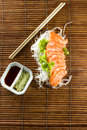 Sliced raw fatty salmon sashimi Stock Image