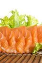 Sliced raw fatty salmon sashimi Royalty Free Stock Images