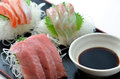 Sliced raw fish called Sashimi Royalty Free Stock Images