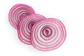 Sliced red onion on white background Royalty Free Stock Photography