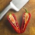 Sliced Red  pepper Stock Image