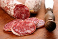Sliced salami Royalty Free Stock Photo